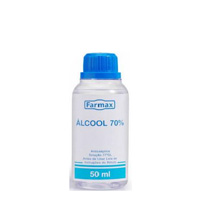 Ganivi - Distribuidora Farmacêutica | �LCOOL 70� ANTI-SEPTICO FARMAX 50ML